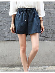 Women's High Rise Stretchy Jeans Shorts Pants,Vintage Loose Solid