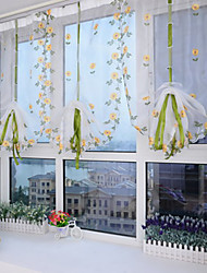 One Panel Curtain Neoclassical Mediterranean European Designer Living Room Polyester Material Sheer Curtains Shades Home Decoration For