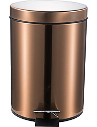 12L Round Stainless Steel Padel Slow Type Muted Trash Can Fingerprint Resistant Ash Can Garbage Can