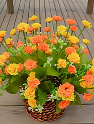 1 Une succursale Plastique Oeillets Fleur de Table Fleurs artificielles 30*30*42