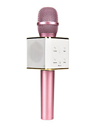 Q7 Magic Karaoke Microphone Phone KTV Player Wireless Condenser Bluetooth MIC Speaker Record Music For Iphone Android  Black Pink Gold
