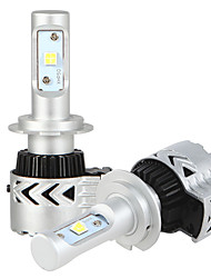 2x kits de conversión de los faros h7 con la viruta de lámparas de los faros mazorca bridgelux 2x 36W llevó 7200lm controlador