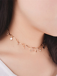 Women's Choker Necklaces Pendant Necklaces Star Crystal Acrylic CopperDangling Style Pendant Tassel Tassels Euramerican Fashion
