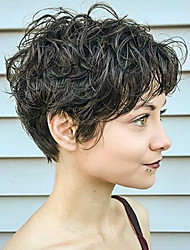Short Natural Curly Human Hair Wig Capless Wig Heat safe For Women 2017
