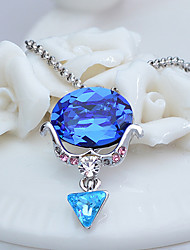 Women's Pendant Necklaces Crystal Jewelry Chrome Unique Design Jewelry For Birthday Thank You 1pc