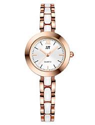 Mulheres Relógio de Pulso Chinês Quartzo Lega Banda Prata Dourada