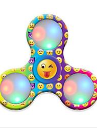 피젯 스피너 핸드 스피너 장난감 트라이 스피너 플라스틱 EDC 살생 시간 초점 장난감 ADD, ADHD, 불안, 자폐증 완화 스트레스와 불안 완화 오피스 데스크 완구 LED 조명 노블티&개그 장난감