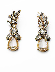 Drop Earrings Crystal Flower Style Geometric Crystal Alloy Geometric Jewelry For Party Daily Casual 1 pair