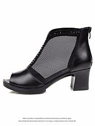 Femme-Décontracté-Noirclub de Chaussures-Sandales-Similicuir Polyuréthane