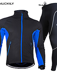 NUCKILY Unisex Long Sleeve Autumn / Winter Cycling Suits TightsWaterproof Breathable  Quick Dry