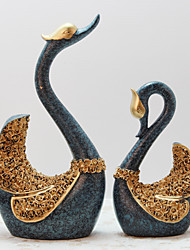 European Lovers Swan Home Decor Inspirational Polyresin Modern/Contemporary RetroCollectibles Indoor Decorative Accessories