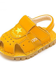 Kids' Baby Sandals First Walkers Cowhide Summer Casual First Walkers Flat Heel White Black Yellow Flat