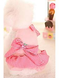 Chien Robe Vêtements pour Chien Mignon Mode Princesse Violet Bleu Rose