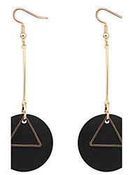 Boucles d'oreille goutte BijouxBasique Original Pendant Cœur Cercle Amitié euroaméricains Bijoux Fantaisie Afrique Simple Style USA