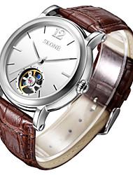 Masculino Relógio de Moda relógio mecânico Chinês Automático - da corda automáticamente Couro Banda Marrom