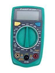 Multímetro digital prokits® mt-1233d-c medidor de prueba de ohm / volt de auto-calibración multi tester con retroiluminación pantalla lcd