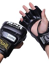 Boxing Gloves for Boxing Fingerless Gloves Protective Nylon Leather Red Black White