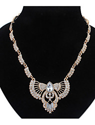 Wings Rhinestone Africa Euramerican Golden Rock Choker Pendant Sweater Chain Necklace Women Office Lady Jewelry