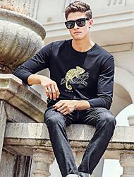 Tee-shirt Homme,Motif Animal Décontracté / Quotidien Chic de Rue Manches Longues Col Arrondi Cuirs Particuliers