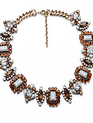 Women's Strands Necklaces Geometric Chrome Unique Design Euramerican Orange Jewelry For Party Gift Christmas Gifts 1pc