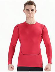 K-Bird® Men's Short Sleeve Running Tops Breathable Comfortable Summer Sports Wear Running 100% Polyester Solid