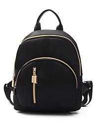 Women Backpack Nylon All Seasons Casual Office & Career Casual Clutch Zipper Green Black Ruby Olive