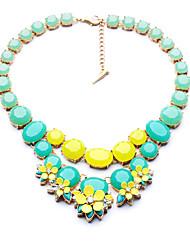Femme Colliers/Sautoir Forme de Fleur Original Le style mignon Orange Vert clair Bijoux Pour Quotidien 1pc