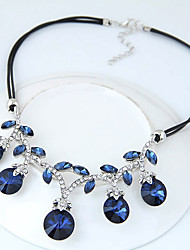 Women's Statement Necklaces Round Glass Alloy Euramerican Fashion Jewelry For Party 1pc