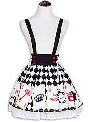 Jupe Doux Lolita Cosplay Vêtrements Lolita Mode Court / Mini Jupe Pour