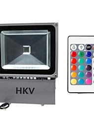 Hkv® 1шт 100w 8850-9950 lm rgb водонепроницаемый фестон светодиодный прожектор объединить led ac85-265 v