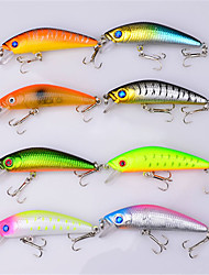 "8 pcs Hard Bait Minnow Fishing Lures Hard Bait Minnow Lure Packs Multicolored g/Ounce mm/2-11/16"" inch,Hard Plastic PlasticBait Casting"