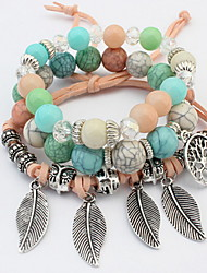 Men's Women's Charm Bracelet Wrap Bracelet Acrylic Friendship Turkish Costume Jewelry Fashion Vintage Bohemian Hip-Hop Rock DIY Acrylic