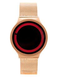 Мужской Модные часы электронные часы Китайский Кварцевый сплав Группа Серебристый металл Розовое золото
