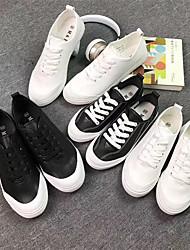 Baskets masculins summer couple shoes microfibre casual noir blanc