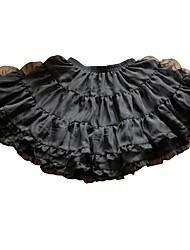Saia Doce Princesa Cosplay Vestidos Lolita Cor Única Short / Mini Saia Anágua Para Plástico Reforçado com Fibra
