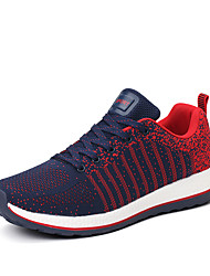 Hot Sale Man's Flyknit Tulle Shoes Lace-up Sneakers Light Soles Light Up Sneakers Spring / Summer Comfort  Outdoor / Office/ Funny Size EU 40-44
