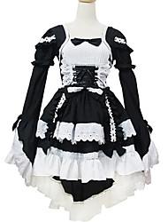Outfits Sweet Lolita Lolita Cosplay Lolita Dress Solid Long Sleeve Short / Mini For