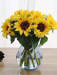 6 Branch Silk Sunflowers Artificial Flowers
