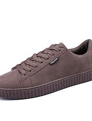 Herren-Sneakers Frühjahr Herbst Komfort PU lässig braun grau schwarz