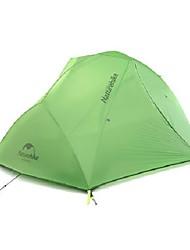 2 человека Двойная Однокомнатная ПалаткаПоходы Путешествия-зеленый