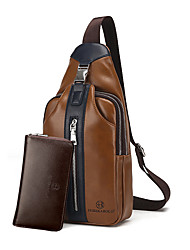 Men Bags All Seasons PU Bag Set with for Event/Party Casual Formal Office & Career Blue Black Brown