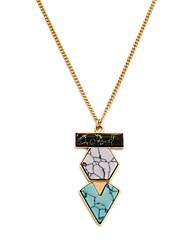 Women's Pendant Necklaces Triangle Shape Chrome Fashion Personalized Rainbow Jewelry For Party Thank You Christmas Gifts 1pc