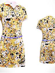 Women's Sleeveless Golf Dresses Breathable Anatomic Design Comfortable Blue Yellow Purple Golf Leisure Sports