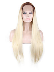 Synthetic Wigs Natural Straight Long Brown/Blonde Wigs for Women Costume Wigs Lace Front Wigs