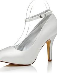Damen-High Heels-Hochzeit Outddor Büro Kleid Party & Festivität-Seide-Stöckelabsatz-Komfort Club-Schuhe einfärbbar Schuhe-