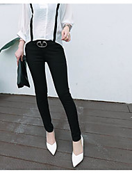 Women's High Rise Micro-elastic Business Pants,Slim Solid