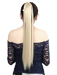 neitsi 1pcs 115g envuelven alrededor de cola de caballo extensiones de cabello striaght postizos sintético M24 / 613 #