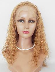 Mujer Pelucas sintéticas Encaje Frontal Largo Rizado rizado Rubio fresa castaño medio Peluca afroamericana Para mujeres de color Peluca