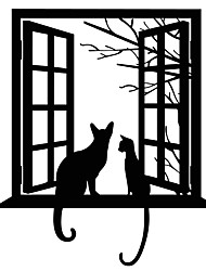 Wall Stickers Wall Decals Style Creative Cat PVC Wall Stickers