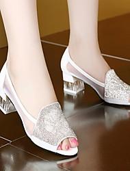 Women's Sandals Summer Comfort Fabric Casual Chunky Heel Block Heel
